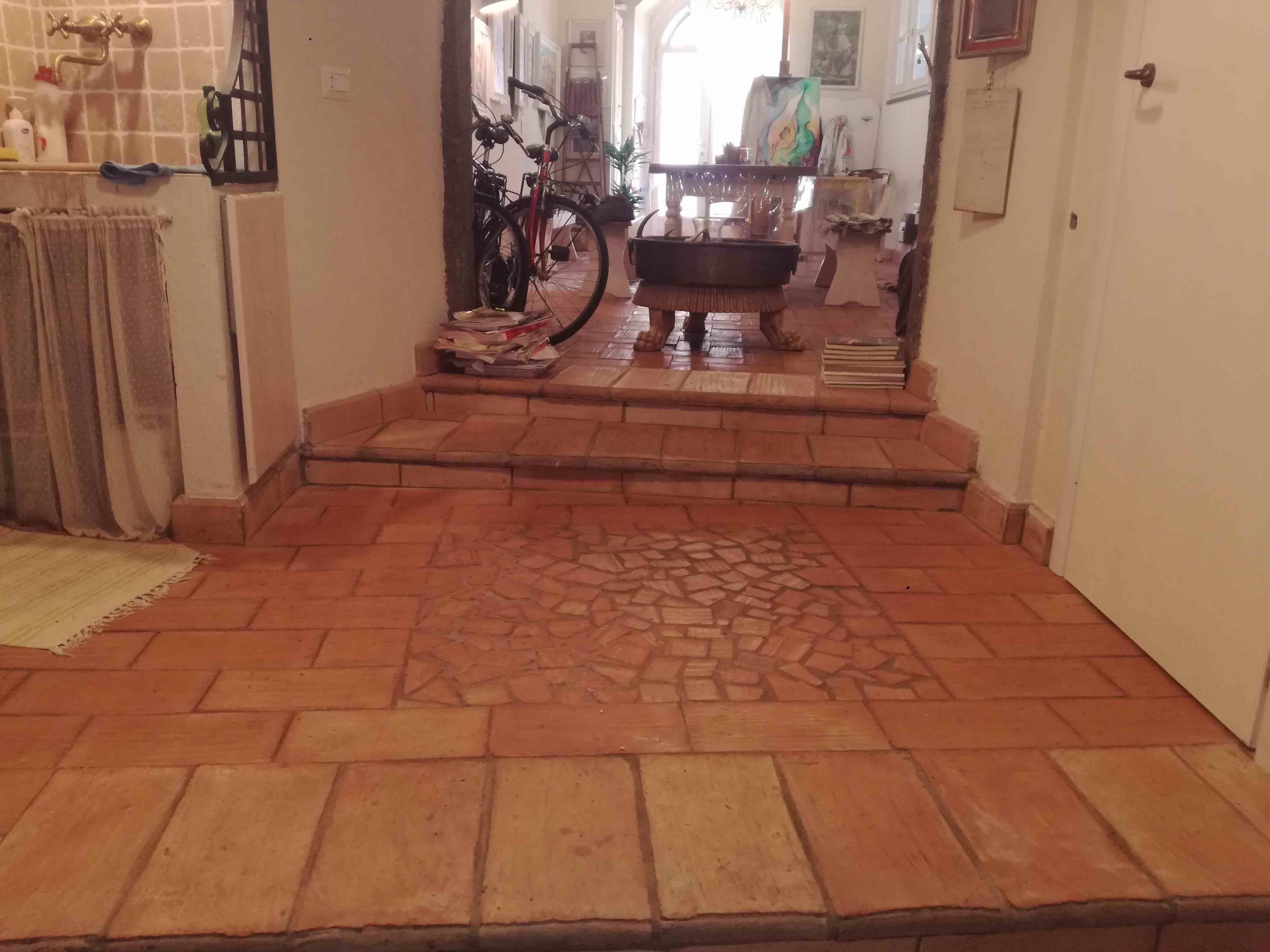 Pavimenti In Cotto Con Mosaico : La sabina trattamento pavimenti in cotto roma con pavimenti in